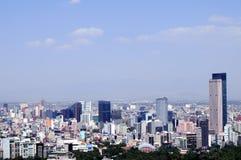 quartier de la ville Mexique financier Photographie stock libre de droits