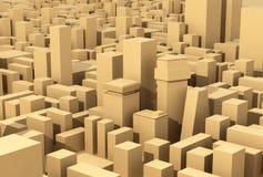 Quartier de la ville moderne illustration libre de droits