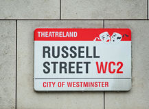 Quartier des théâtres Londres photographie stock