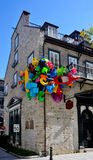 Quartier du Vieux Port,云香Sault澳大利亚Matelot魁北克市,加拿大 库存图片