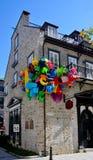 Quartier du Vieux Port, rueSault-au-Matelot Quebec City, Kanada Fotografering för Bildbyråer