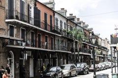 Quartier français de la Nouvelle-Orléans et ses balcons iconiques photographie stock libre de droits