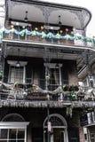 Quartier français de la Nouvelle-Orléans et ses balcons iconiques image libre de droits
