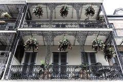 Quartier français de la Nouvelle-Orléans et ses balcons iconiques image stock