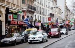 Quartier Pigalle em Paris, França Foto de Stock