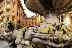 Quartiere Coppedè en Roma Foto de archivo libre de regalías