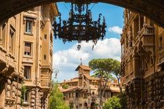 Quartiere Coppede. Rome. Stock Images