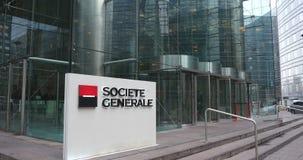 Quartiere generale di Societe Generale in Francia, Parigi, difesa della La video d archivio