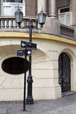 Quartiere ispanico Parigi-Londres a Santiago, Cile Immagine Stock