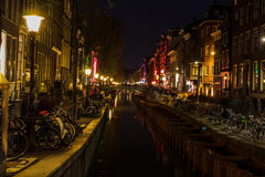 Quartiere a luci rosse fotografia stock libera da diritti