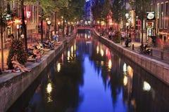 Quartiere a luci rosse a Amsterdam fotografia stock libera da diritti