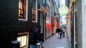 Quartiere a luci rosse a Amsterdam, Paesi Bassi, video d archivio