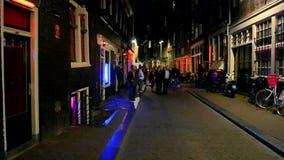 Quartiere a luci rosse a Amsterdam, Paesi Bassi, Fotografia Stock