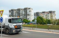 Quartiere residenziale Slaveikov in Bourgas, Bulgaria Immagini Stock Libere da Diritti