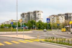 Quartiere residenziale Slaveikov in Bourgas in Bulgaria Fotografie Stock