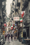 Quartieri Spagnoli (Spanish Quarters) , part of the city of Naples Stock Photography