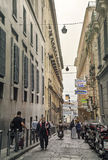 Quartieri Spagnoli (Spanish Quarters) , part of the city of Naples Stock Image