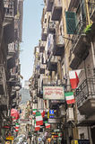 Quartieri Spagnoli (Spanish Quarters) , part of the city of Naples Stock Photos