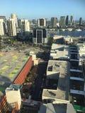 Quartiers des docks dans la ville de Melbourne Images libres de droits