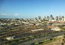 Quartiers des docks dans la ville de Melbourne Images stock