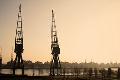 Quartiers des docks de Londons photos libres de droits