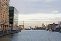 Quartiers des docks de Londres Images stock