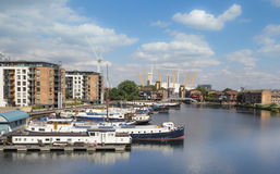 Quartiers des docks de Londres Image stock