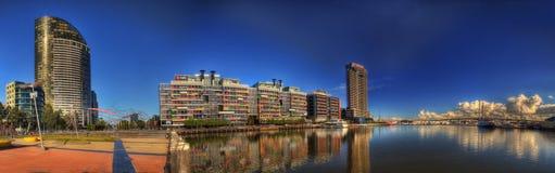 Quartiers des docks de Melbourne image stock