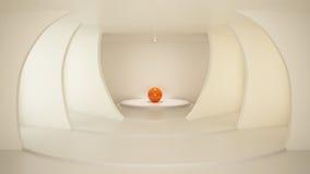 Quarto à moda, interior limpo, ilustração 3d Fotos de Stock Royalty Free