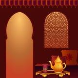 Quarto árabe do chá Imagens de Stock Royalty Free