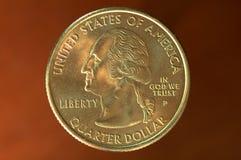 Quarto - 25 centesimi Immagini Stock Libere da Diritti