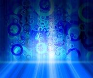 Quarto abstrato azul Imagem de Stock Royalty Free