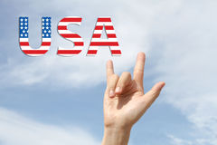Quarto americano di amore della bandiera nazionale di luglio Fotografie Stock