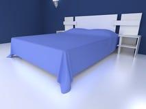 Quarto azul ilustração stock