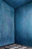 Quarto azul imagem de stock
