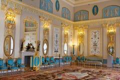 Quarto azul no palácio de Catherine Foto de Stock
