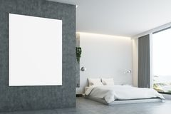 Quarto cinzento e concreto, cartaz, close up Fotografia de Stock Royalty Free