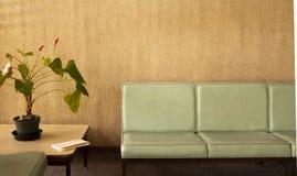 Quarto com as cadeiras com planta potted fotos de stock royalty free