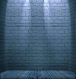 Quarto com paredes de tijolo Fotos de Stock Royalty Free