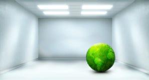 Quarto com planeta verde para dentro ilustração royalty free