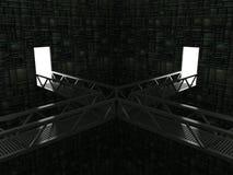 Quarto com pontes ilustração do vetor