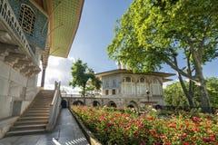 Quarto cortile, palazzo di Topkapi, Costantinopoli, Turchia fotografia stock