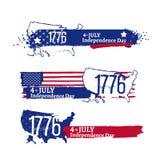 Quarto da ilustração da independência de julho Imagens de Stock
