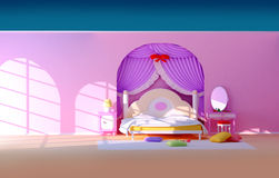 Quarto da princesa Fotografia de Stock Royalty Free