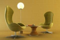 Quarto da sala de estar Imagens de Stock Royalty Free