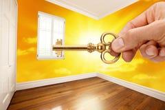 Quarto da tecla HOME da casa Fotografia de Stock Royalty Free