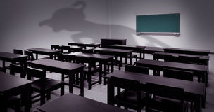 Quarto de classe assombrado Imagem de Stock Royalty Free
