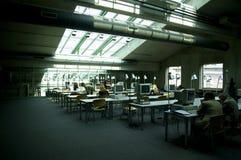 Quarto de computador da biblioteca Imagem de Stock
