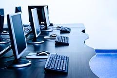Quarto de computadores Foto de Stock Royalty Free