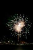 Quarto de fogos-de-artifício de julho Imagens de Stock